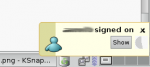 gaim-libnotify message when somebody signs on