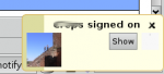 gaim-libnotify message when somebody with logo signs on