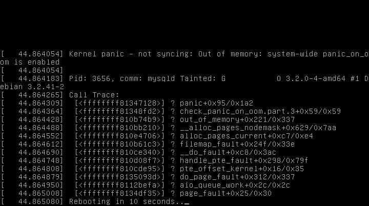 How-To: Reboot on OOM - Debuntu
